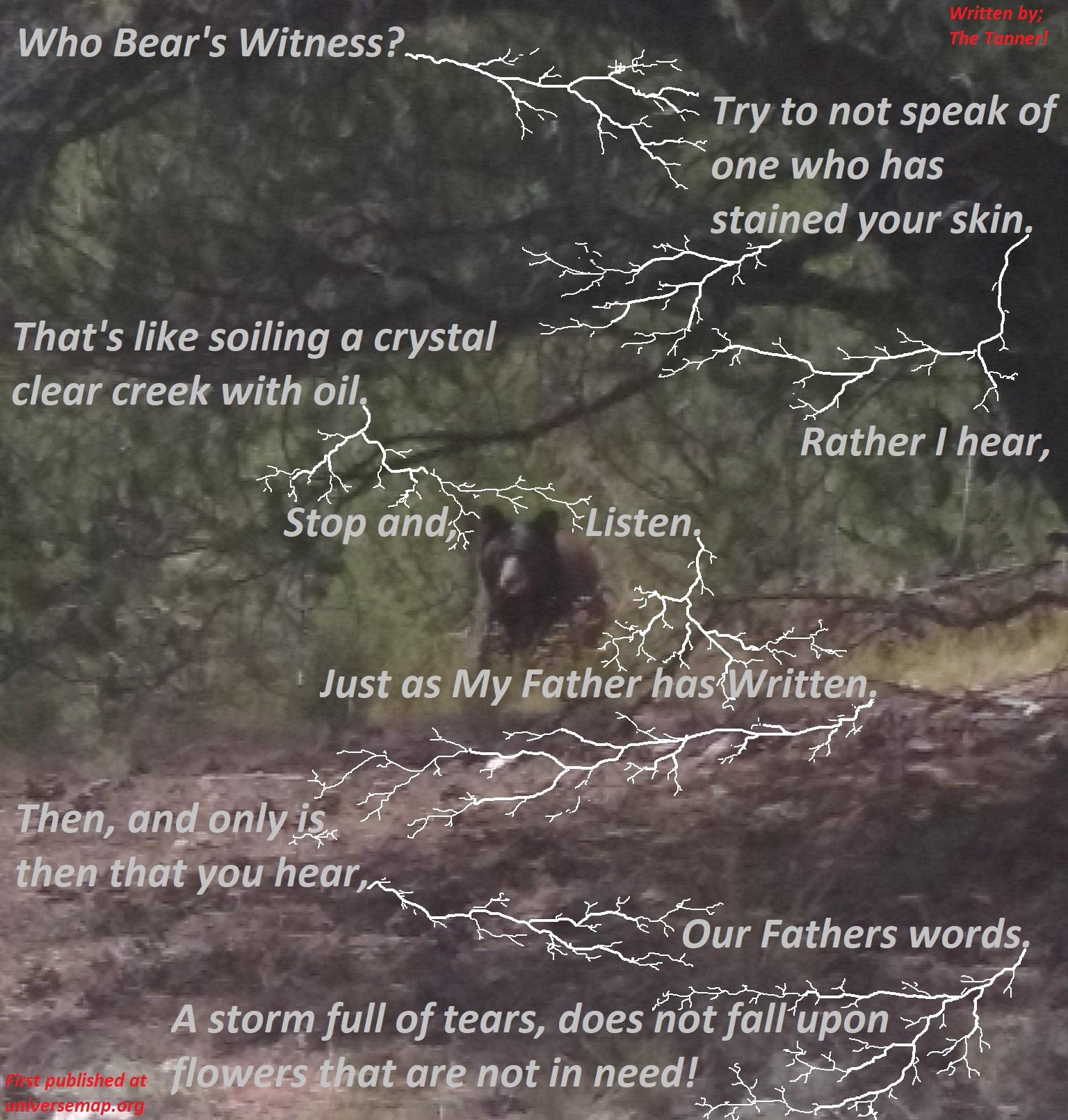 Witness #1 Bear!